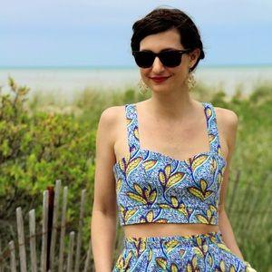Zara Trafaluc Two Piece Dress Crop Top ONLY Medium